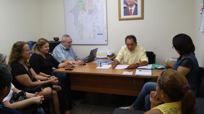 Governo recebe visita de prefeito de Belágua e representantes da FENAE para tratar do desenvolvimento do município