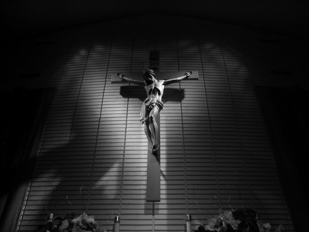 Jesus Christ On The Cross Black And White