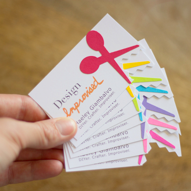 Introducing design improvised business cards collect all 8 i wanted a card to capture the essence of what design improvised is all about and i am hoping the diy colourmoves