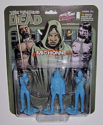October Toys Exclusive Blue The Walking Dead Michonne and Pets PVC 3 Figure Set