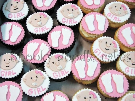 snooky doodle cakes girl baby shower cupcakes