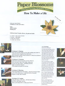 Paper blossom tutorial lily
