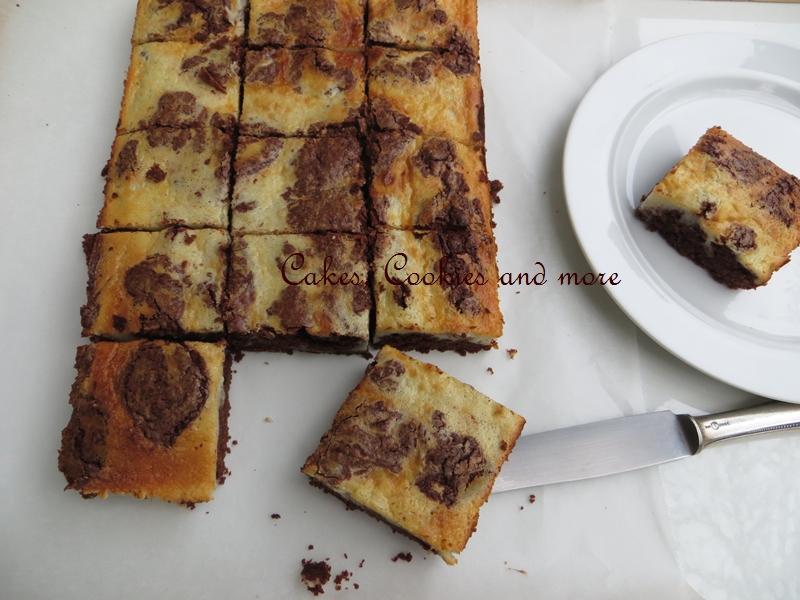 Cake - like Cheesecake Brownies oder Schokoladenkuchen mit Chessecake