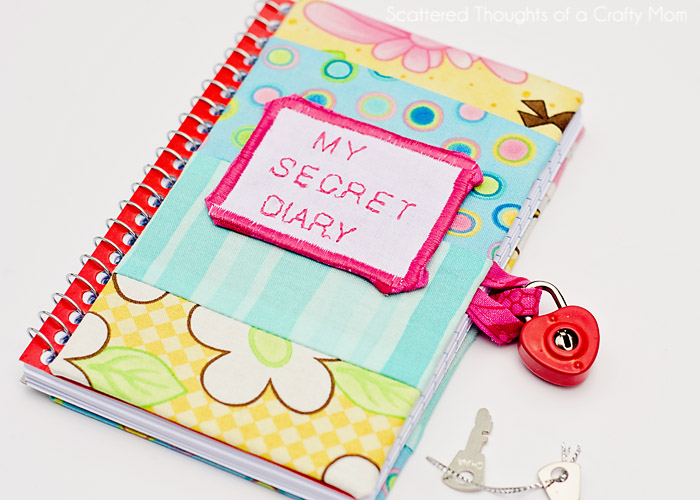 How To Make A Book Cover With A Victoria Secret Bag ~ Diy secret diary scattered thoughts of a crafty mom