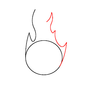 How To Draw Fire Step 3