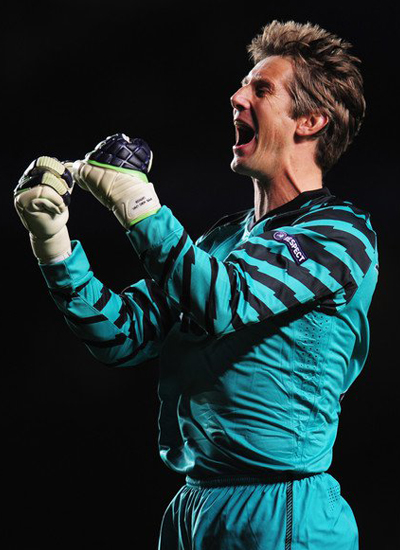 Man Utd champions league quarter finals Edwin Van Der Sar