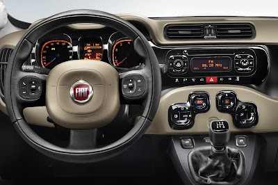 New Fiat Panda steering view