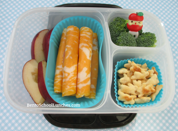 Ham and cheese roll ups, Easylunchboxes urban, bento school lunches