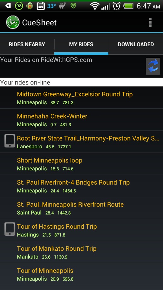 MN Bike Trail Navigator: Cue Sheet for Android Will Keep ...