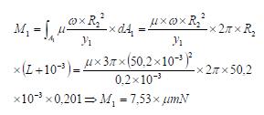 Ley de Newton de la viscosidad momento total ejercicio 4
