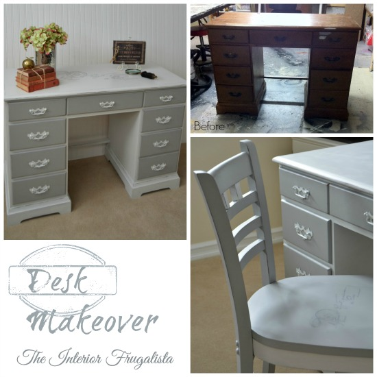 Desk and Chair Makeover Before and After