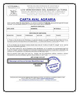 Carta Aval para agricultor