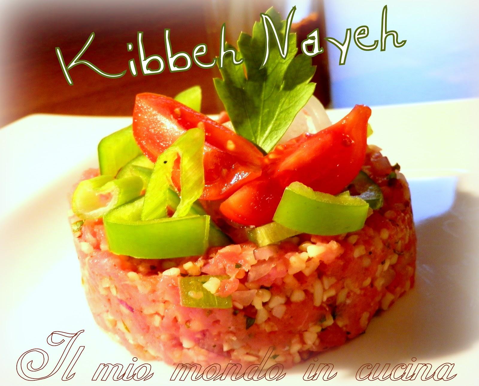 KIBBEH NAYEH - piatto tipico libanese