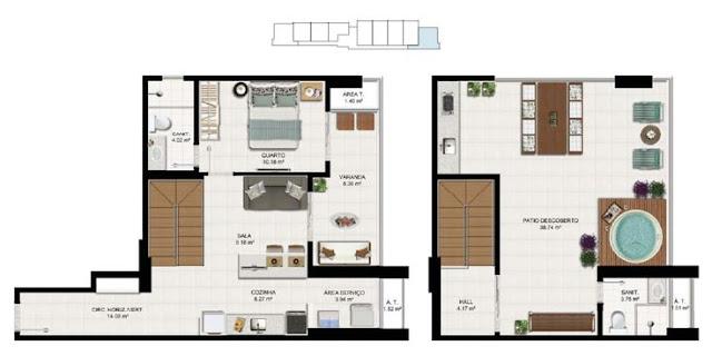 tipos de apartamento, as diferenças entre tipos de imóveis, diferenças entre quitinete, loft, estúdio e flat,  apartamento, apartamento pequeno, quitinete decorada, Conjugado, decoração, imóvel, loft, Quitinete