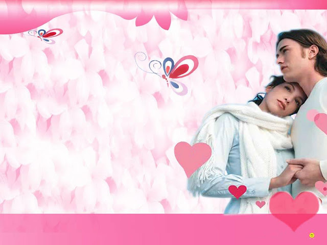 boy and girl Love feeling wallpaper