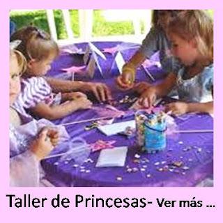 aimacion de cumpleaños princesas taller