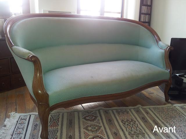 avant apr s canap louis philippe atelier velvet artisan tapissier paris 10e. Black Bedroom Furniture Sets. Home Design Ideas
