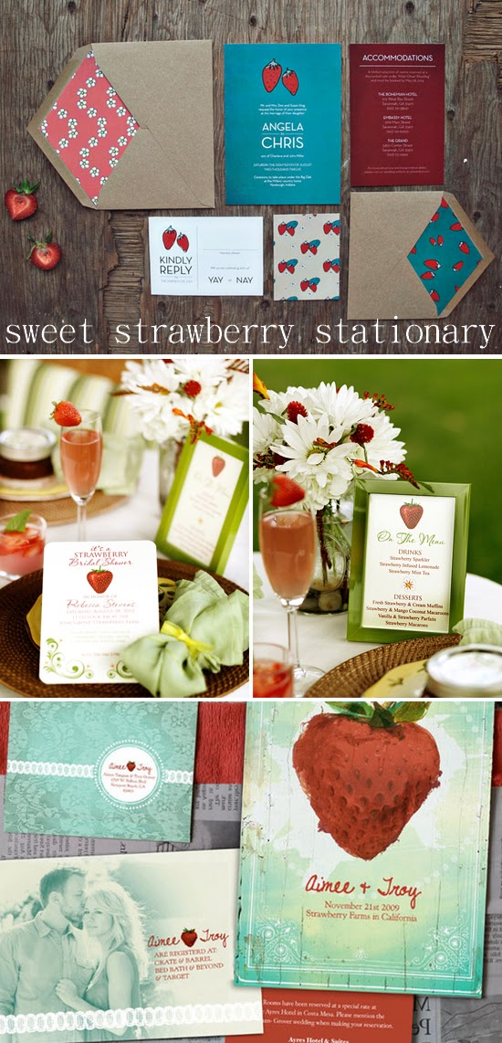 Sweet Strawberry Stationary