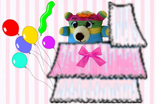 huge eyes, batting eyelashes, neon colors, too cute little crochet amigurumi bear pattern