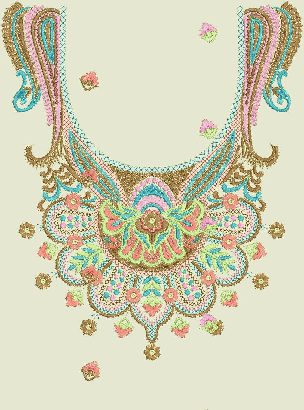 Embdesigntube Kameez Neck Embroidery Designs