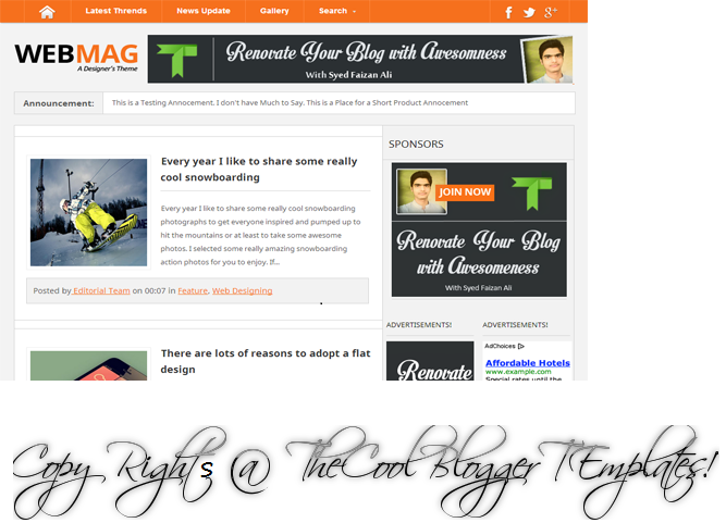 Webmag professional blogger template blogger and for Pro photo blog templates