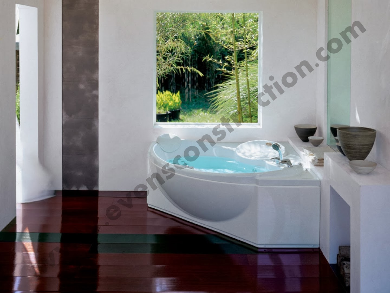 Evens construction pvt ltd spa designs for Spa themed bathroom ideas