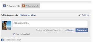 Membuat Komentar Facebook dan Blogger Berdampingan Dengan Pemberitahuan