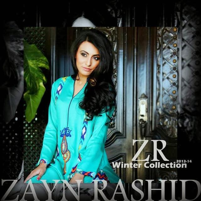 Zayan Rashid Marina Linen Winter Collection 2013/14 - Maria ilyas