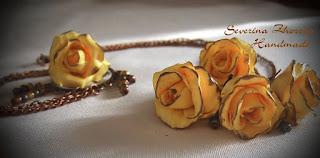 нежни рози от полимерна глина