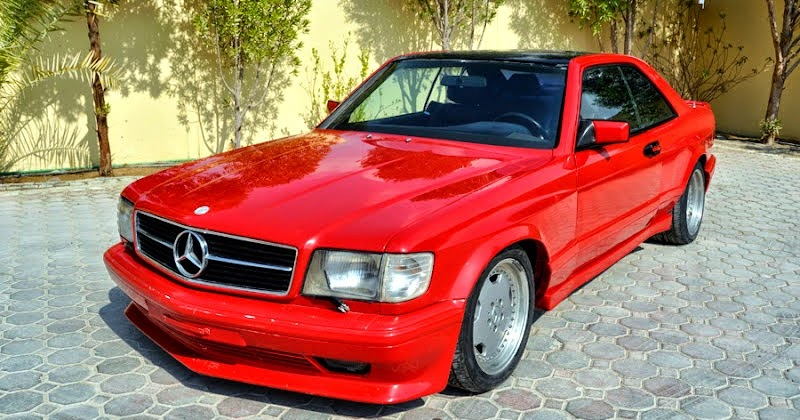 mercedes w126 500sec amg coupe widebody