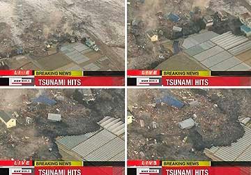 gambar gempa bumi di jepon