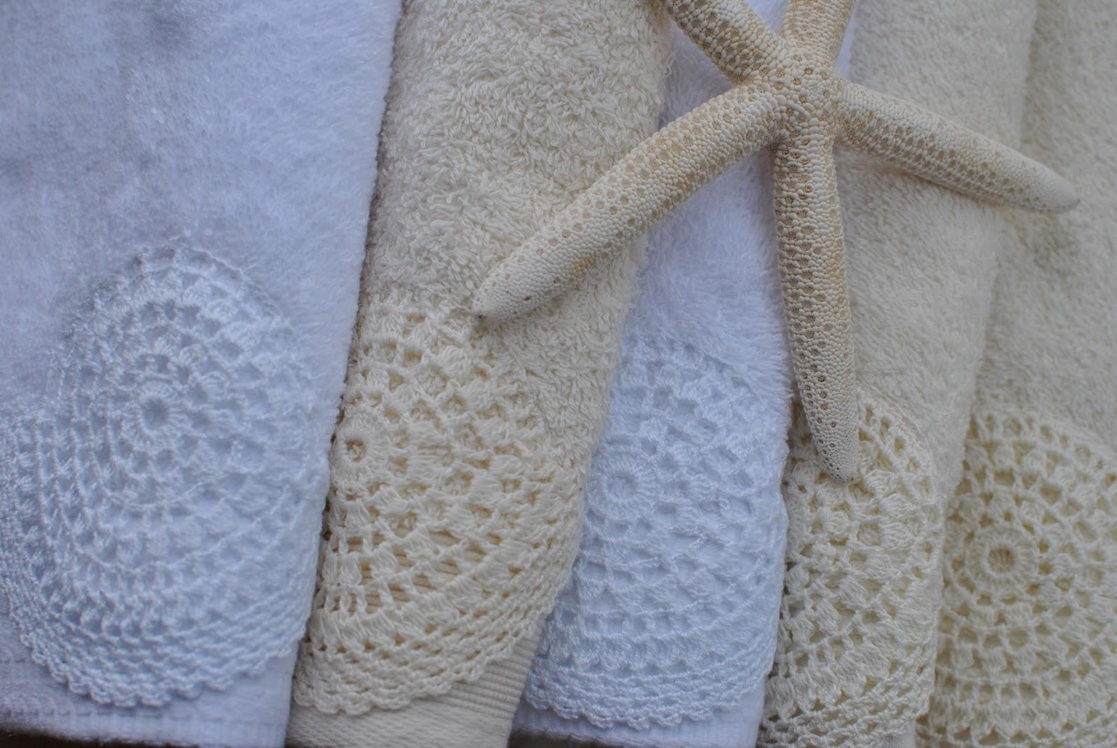 Crochet handmade toallas puntillas de crochet handmade - Hacer puntillas de ganchillo ...
