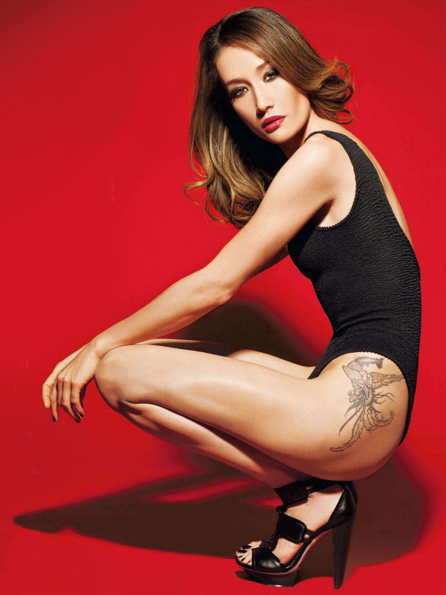 maggie q inked magazine sexy tatoo 02