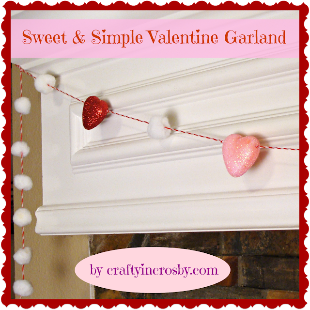 Valentines Day, Garland, Hearts, Pom Poms