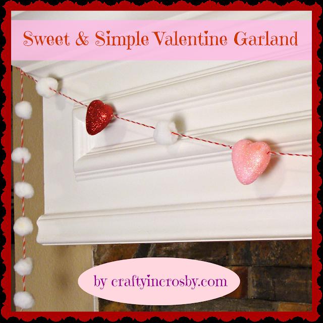 Valentines Day, Garland, Hearts, Pom Poms