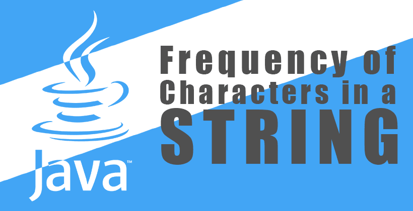 Java Program to Find Frequency of Characters in a String