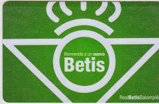Mi carnet del Betis Temporada 2015-16