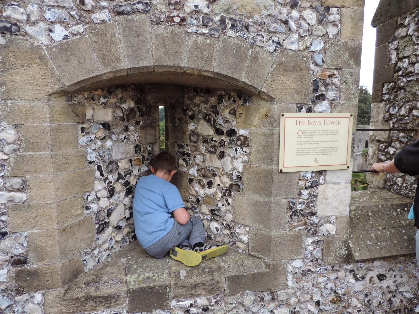 norman keep looking to bevis tower, arundel castle