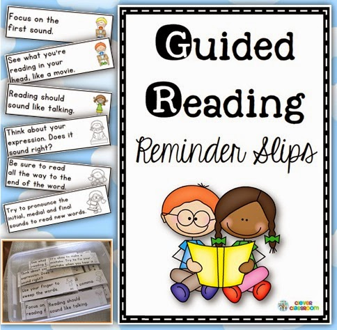 Guided Reading Reminder Slips - Strategy and Skill Helpers  Use these guided reading help slips at the end of your guided reading session. Simply tear off the slip and place in the student's reader to take home or to use in class.