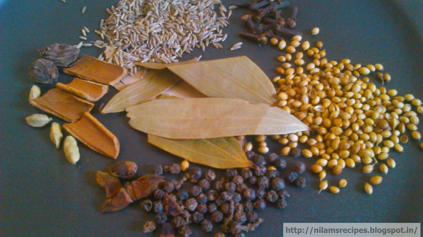 Garam masala recipe ingredients garam masala powder - Garam masala recette ...