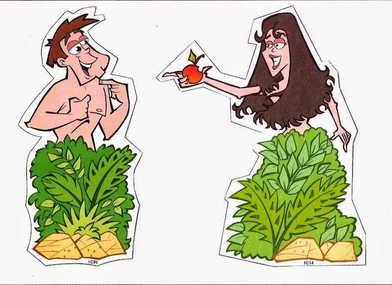 Me aburre la religi n manualidades ad n y eva for Adan y eva en el jardin