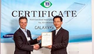 Samsung Galaxy S4, Ponsel Pertama Raih Sertifikat TCO