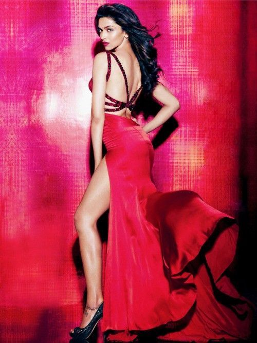 Hot Deepika Padukone In Red Dress