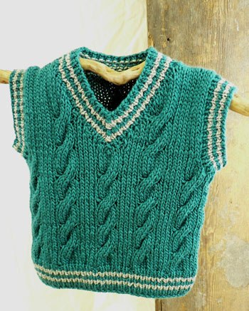 Knitted Baby Vest Pattern : neverending lists: Knitting - cable vest for a baby
