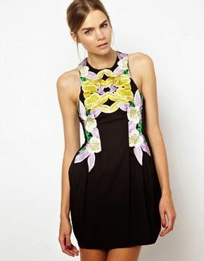 Yeni 2014 Çiçek Desenli Yazlık Elbise Modelleri