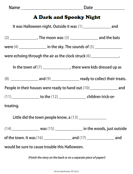 classroom bies too halloween fill in a story writing  check out my blog post for more details on how to use this writing template your students