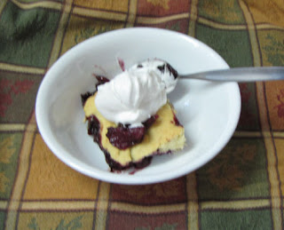 dish of autumn cobbler