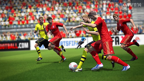 Screen Shot Of FIFA 14 (2013) Full PC Game Free Download At Downloadingzoo.Com