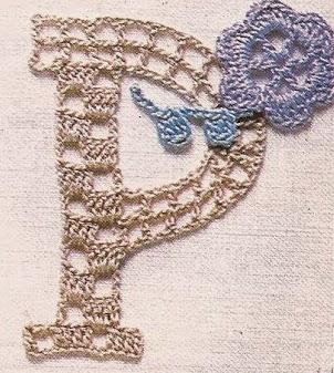 Letra P a Crochet