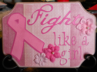 Cricut, Pink Journey, Lyrical Letters, Breast Cancer Awareness